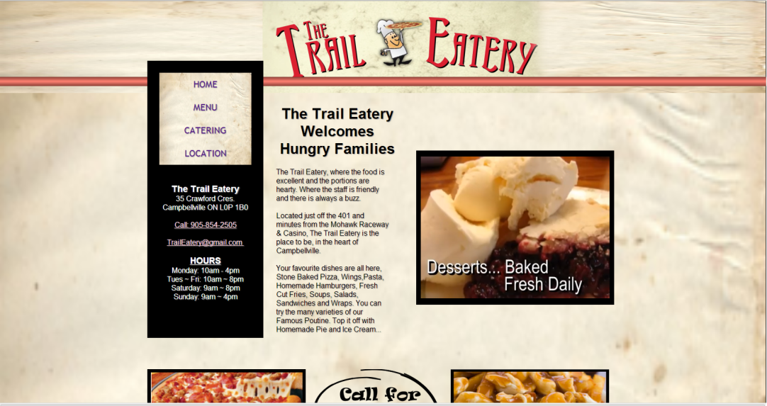 Trail Eatery Home Page